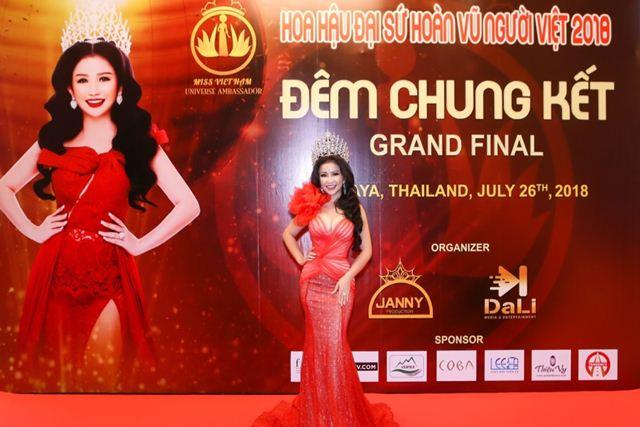 Hoa hậu Janny Thủy Trần – người đưa cuộc thi Hoa hậu Đại sứ Hoàn vũ Người Việt 2018 đến thành công tốt đẹp