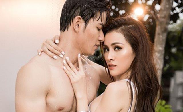 Thư Dung diện bikini gợi cảm khoe body hút mắt cạnh mẫu nam Sỹ Hưng