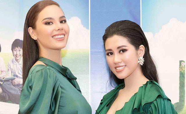 Hoa khôi Emily Hồng Nhung rạng rỡ bên Hoa hậu Hoàn vũ Philippines Catriona