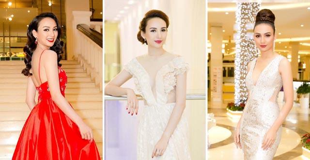 Gu thời trang thảm đó ấn tượng của Hoa hậu Ngọc Diễm