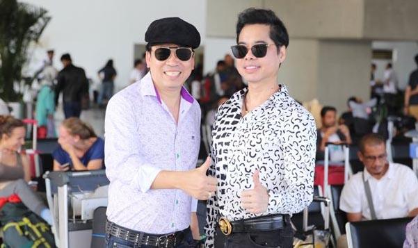 Danh ca Ngọc Sơn cùng Michael Lang đến Indonesia cổ vũ Olympic Việt Nam giành HCĐ