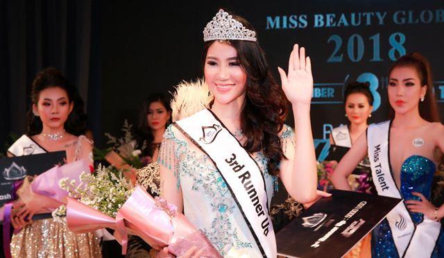 Dương Yến Phi đăng quang ngôi vị Á hậu Miss Beauty Global 2018