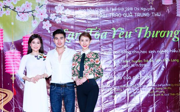 Hoa Hậu Chi Nguyễn tổ chức chương trình thiện nguyện tại quê nhà