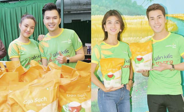 """'Rừng' sao Việt cùng Gạo Hoa Lúa đổ bộ đến chương trình """"Gắn kết yêu thương"""""""