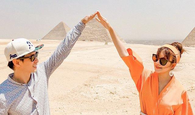 Vợ chồng Lý Hải đi du lịch, hâm nóng tình cảm ở trời Tây