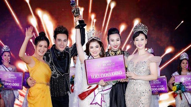 Ca sĩ Nguyên Vũ cùng hoa hậu Diễm Hương ngồi ghế nóng cuộc thi sắc đẹp tại Malaysia