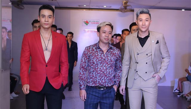 Siêu mẫu Nam Phong cùng Cao Xuân Tài tỏa sáng trong trang phục veston Mon Amie
