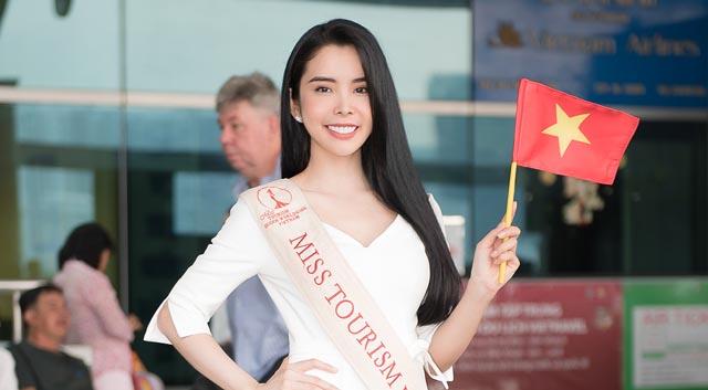 Huỳnh Vy quyết tâm giành chiến thắng Miss Tourism Queen Worldwide 2018