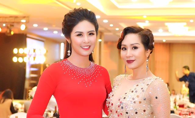 Hoa hậu Vũ Loan đọ dáng cùng Hoa hậu Ngọc Hân và Ngọc Trinh tại sự kiện