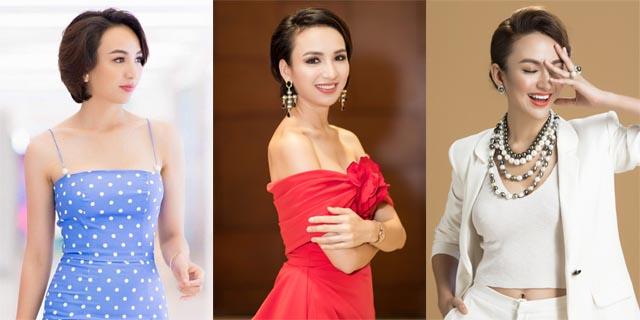 Hoa hậu Ngọc Diễm lúc dịu dàng, khi cá tính với kiểu tóc ngắn