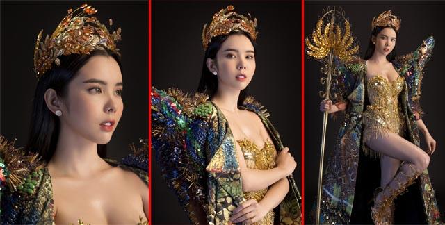 """Huỳnh Vy mang """"Nữ thần mùa màng"""" nặng 20 kg đến Miss Tourism Queen Worldwide 2018"""