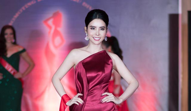 Huỳnh Vy diện váy dạ hội rực rỡ, khuynh đảo sàn diễn Miss Tourism Queen Worldwide 2018