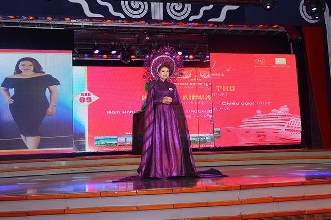 Doanh nhân Kim Thu xuất sắc giành được ngôi vị Á hậu 3