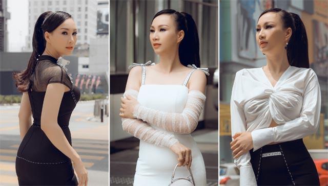 """Bất ngờ trước hình ảnh hoa hậu 3 con """"thả dáng"""" chuẩn trên đường phố Malaysia"""