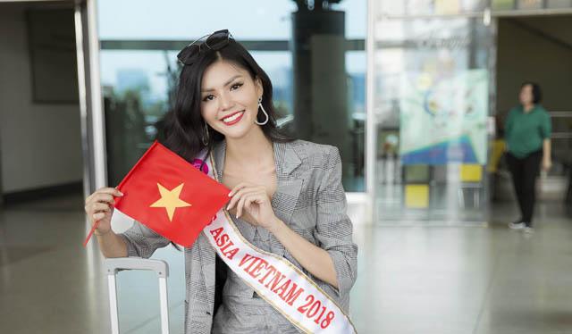 Kim Nguyên chính thức lên đường đi thi Hoa hậu Châu Á 2018