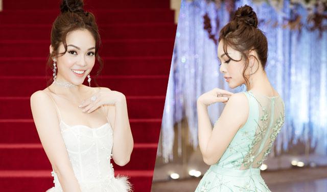Dương Cẩm Lynh diện hai bộ váy sexy ghi hình