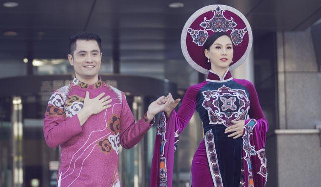Paris Vũ làm Đại sứ Áo dài, giữ vai trò vedette ở Giao lưu văn hoá Việt Nhật