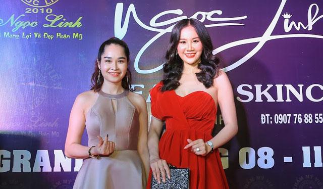 """Dương Yến Phi """"đọ"""" dáng cùng Á hậu Ngọc Linh với vai trần trên thảm đỏ"""
