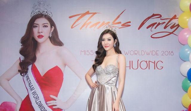 Thiên Hương thay 3 bộ váy trong tiệc cảm ơn sau đăng quang Miss Vietnam Worldwide 2018