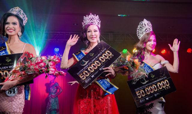 Diễm Trang đăng quang ngôi vị Hoa hậu Phu nhân Golden World 2018