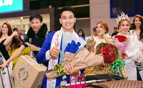 Nam vương Nguyễn Bảo Linh về nước sau khi đăng quang Ms Vietnam Beauty International Pageant 2018