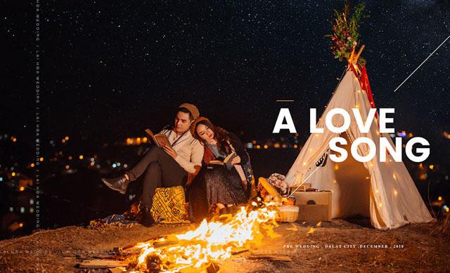 Bộ ảnh Giáng sinh đầy lãng mạn kể về chuyện tình của Cao Mỹ Kim và Sơn Ngọc Minh