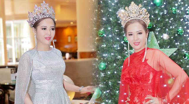 """Nữ hoàng Helen Thúy Lê diện đầm xuyên thấu mùa Noel khiến fans """"phát cuồng"""""""