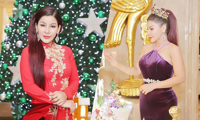 """Hoa hậu quý bà Giang Ngọc Bích khoe đường cong """"nóng bỏng"""" mùa Noel"""