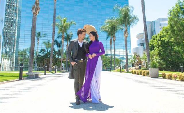 Đoàn Thanh Tài nam tính trong bộ ảnh áo dài trên đất Mỹ cùng hoa hậu Lý Ngọc Thu
