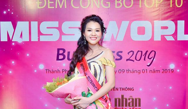 Thùy Duyên xuất sắc lọt Top 10 Miss World Business 2019