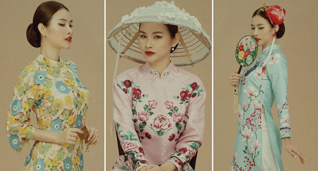 """Á hậu """"siêu vòng ba"""" Thanh Trang thanh lịch, cá tính với áo dài cách tân"""