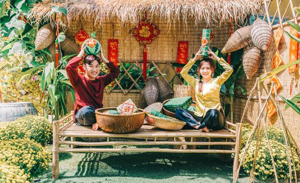 Don Nguyễn tình tứ cùng hotgirl Như Quỳnh trong bộ ảnh tết