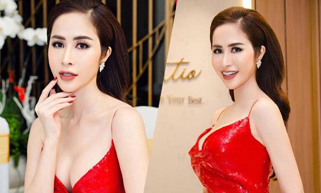 Princess Ngọc Hân khoe body gợi cảm với tone màu đỏ