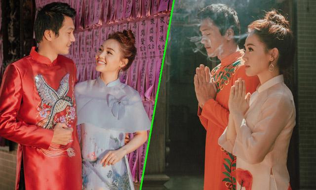 Linh Phi hạnh phúc bên Quang Tuấn, tiết lộ kế hoạch đón tết Kỷ Hợi