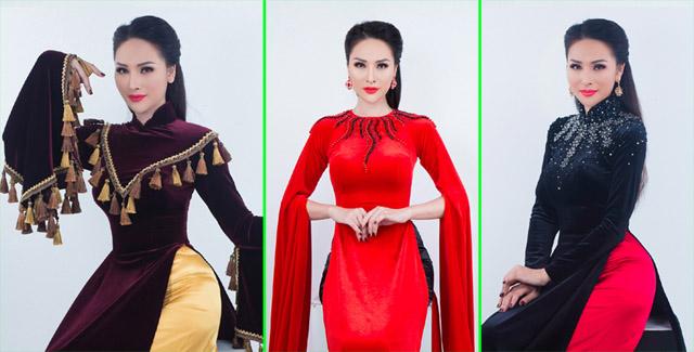 Hoa hậu Vicky Đinh diện áo dài kín đáo vẫn thu hút vạn ánh nhìn