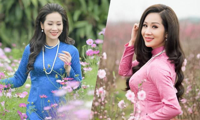 Hoa hậu Vũ Loan gợi cả trời xuân trong BST áo dài của NTK nghệ nhân Hương VIP