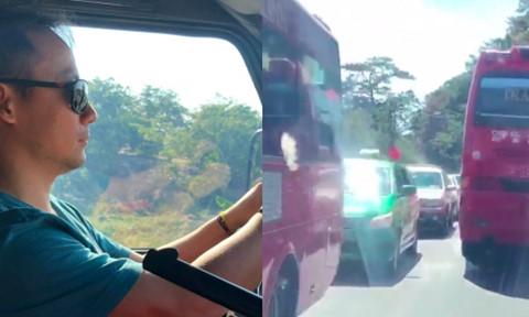 Vợ chồng rapper Tiến Đạt gặp cảnh ùn tắc khi du lịch Đà Lạt dịp Tết