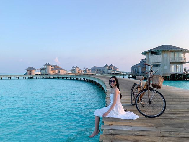 Hoa hậu Huỳnh Vy khoe 3 vòng nóng bỏng tại đảo quốc xinh đẹp Maldives 2