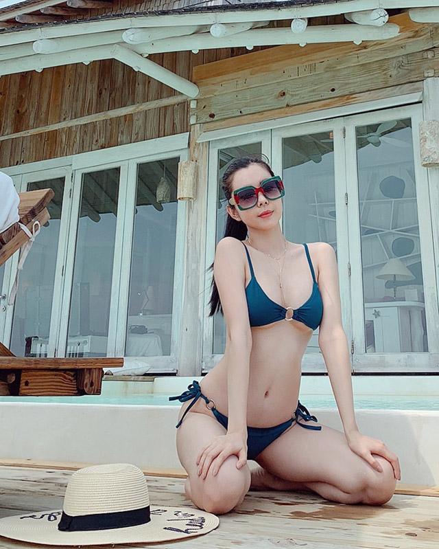 Hoa hậu Huỳnh Vy khoe 3 vòng nóng bỏng tại đảo quốc xinh đẹp Maldives 5