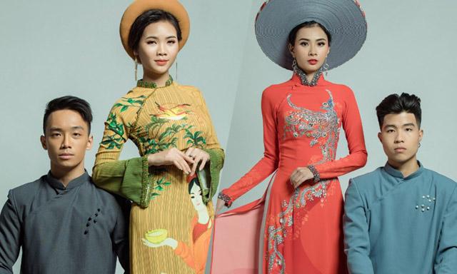 Top 18 Miss UEF 2019 khoe nhan sắc lộng lẫy trong Áo dài của NTK Việt Hùng