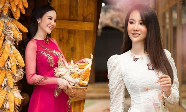 """Dương Yến Phi tựa """"tiên nữ mùa xuân"""" trong tà áo dài"""