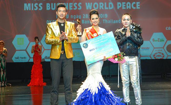 Thùy Dương xuất sắc đăng quang Hoa hậu Ms Business World Peace 2019