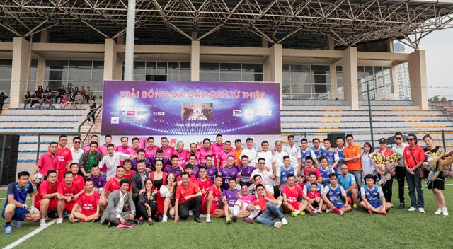 Nhiều nghệ sĩ, sao Việt tham gia giải bóng đá gây quỹ ủng hộ con gái đạo diễn Đỗ Đức Thành
