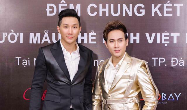 Nguyên Vũ cùng siêu mẫu Nam Phong lịch lãm với vest CoCo&PaPa chấm thi đêm chung kết Vietnam Fitness Model