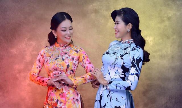Một góc Sài Gòn tái hiện trên áo dài Minh Châu