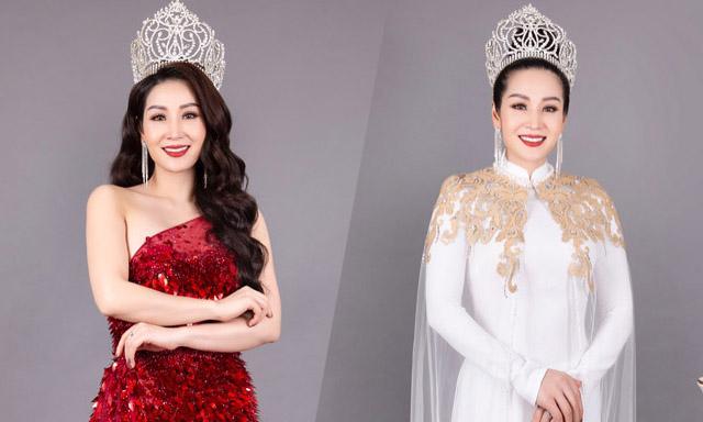 Hoa hậu Vũ Loan rạng rỡ với váy dạ hội lộng lẫy và áo dài kiêu sang