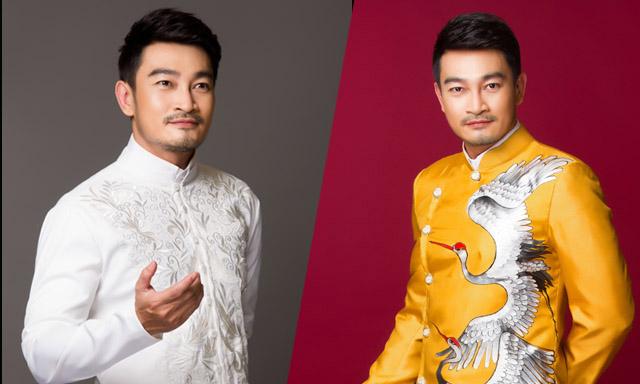 Trương Minh Quốc Thái điển trai làm mẫu áo dài NTK Minh Châu