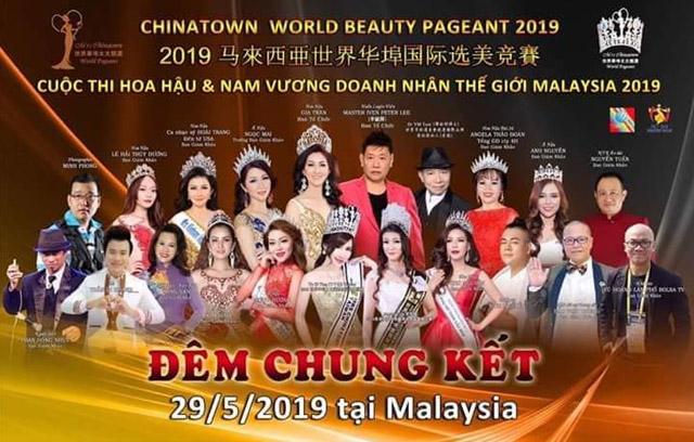 Lộ diện dàn thí sinh cuộc thi Hoa hậu và Nam vương Doanh nhân Thế giới Malaysia 2019