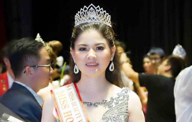Thí sinh Bích Thoại đoạt vương miện Hoa Hậu Thân Thiện tại cuộc thi Hoa Hậu Sắc Đẹp Việt Nam Quốc Tế 2019