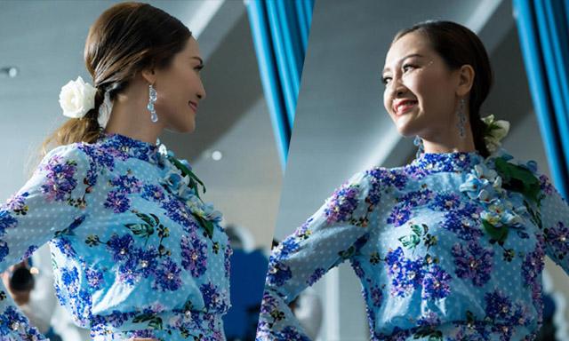 Hoa hậu Đàm Lưu Ly trẻ trung đến chúc mừng NTK Văn Thành Công